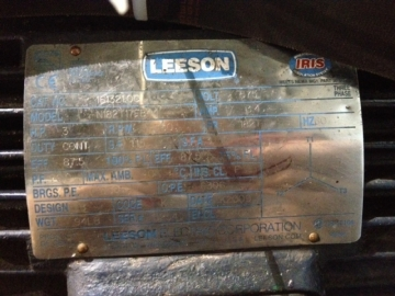 LEESON N182T17EB44 electric motor with brake-3